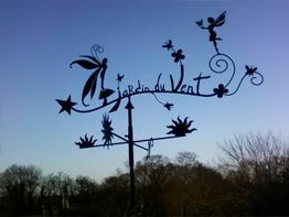 Girouette jardin du vent